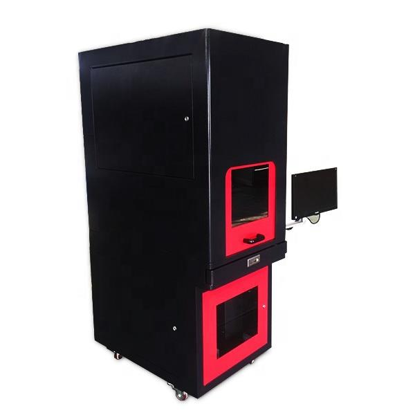 50W Enclosed Fiber Laser Marking Machine Warranty 3 Year Raycus Fiber Source
