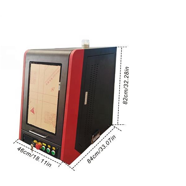20W 30W 50W 100W New Enclosed Fiber Laser Marker Machine With CE For Sale