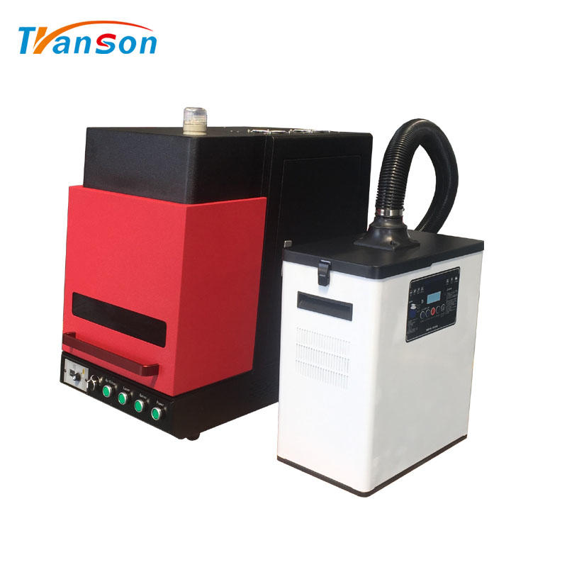 20W Laser Machine For Metal Nonmetal Mini Enclosed Fiber Mark With Air Filter