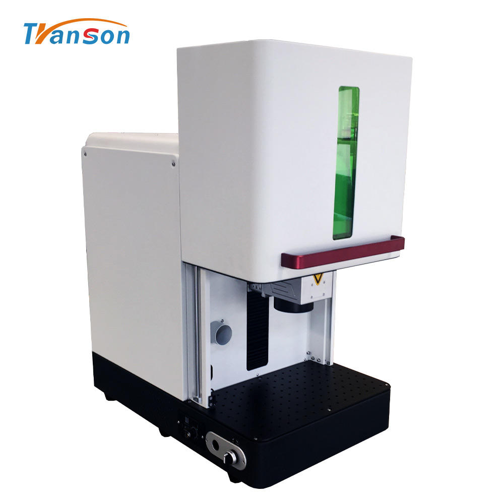 20W The New Style Auto Sealed Enclosed Fiber Laser Marking Cutting Engraving Machine Price