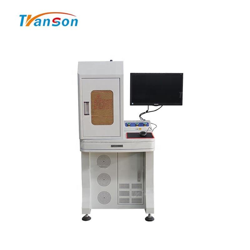 Enclosed Desktop Fiber Laser Marking Machine With Computer And Monitor
