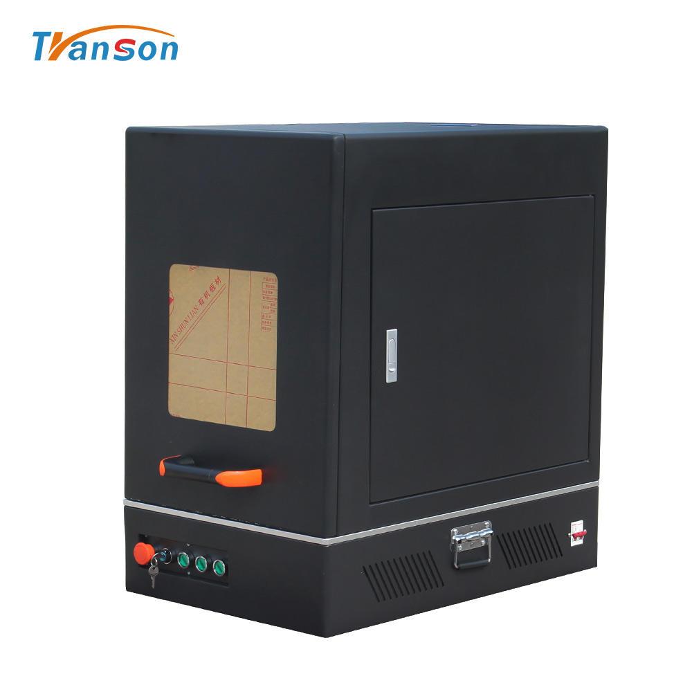 20W RAYCUS Sealed New Enclosed Fiber Laser Marking Machine Metal Business Name Card Machine