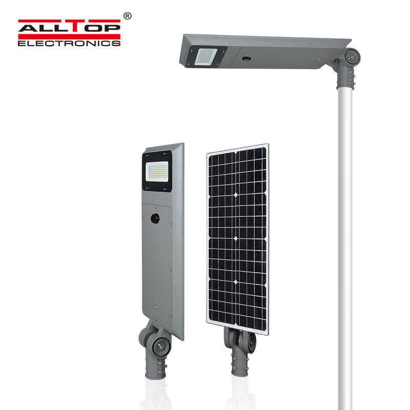 ALLTOP Excellent waterproof ability IP65 outdoor garden 40watt 60watt all in one led solar street light