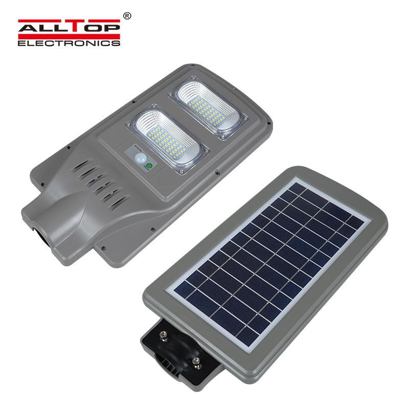 Intelligent waterproof ip65 outdoor 10w 30w 60w 90w 100w all in one solar led streetlight