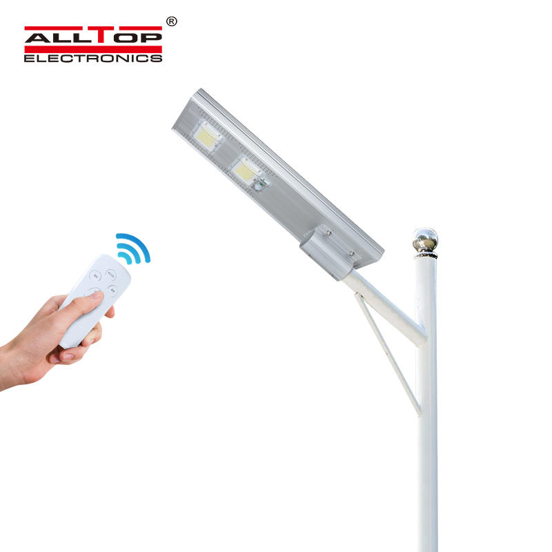 ALLTOP Energy saving outdoor waterproof ip65 roadway 60w 120w 180w all in one solar led street light