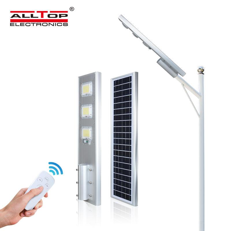 ALLTOP Energy saving IP65 outdoor solar motion controller 60 120 180 W all in one led solar streetlight price list