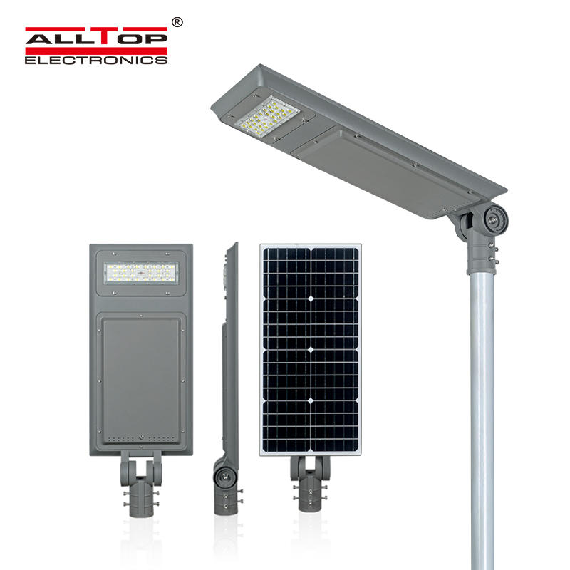 ALLTOP Hot sale ip65 outdoor waterproof lighting smd 40w 60w100w integrated all in one led solar street light