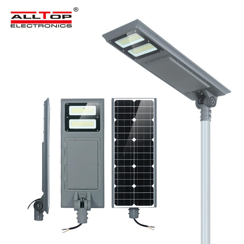 ALLTOP Outdoor lighting IP65 waterproof 100w integrated all in one led solar street light