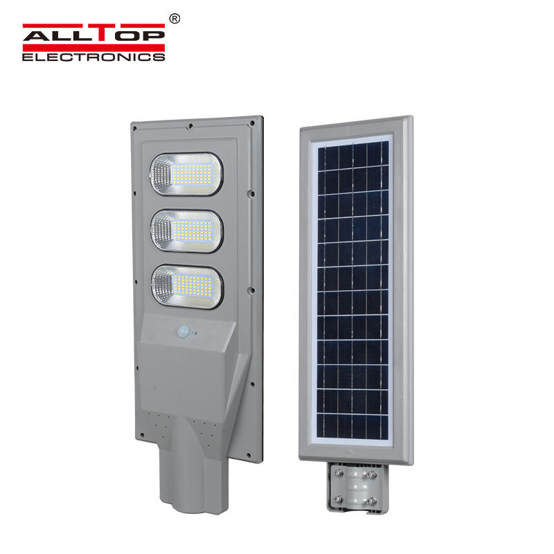 ALLTOP High quality integrated aluminum outdoor Waterproof IP65 30w 60w 90w all in one solar led street light