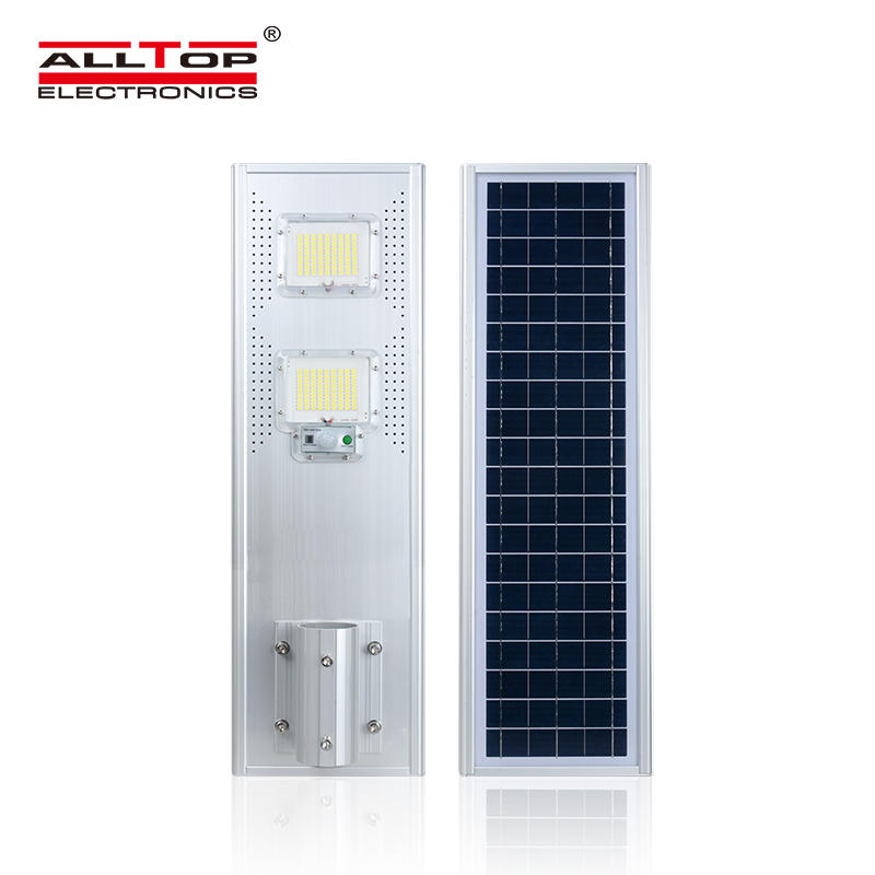 ALLTOP China supplier wholesale energy saving aluminum ip65 photocell 60w 120w 180w all in one solar led street light