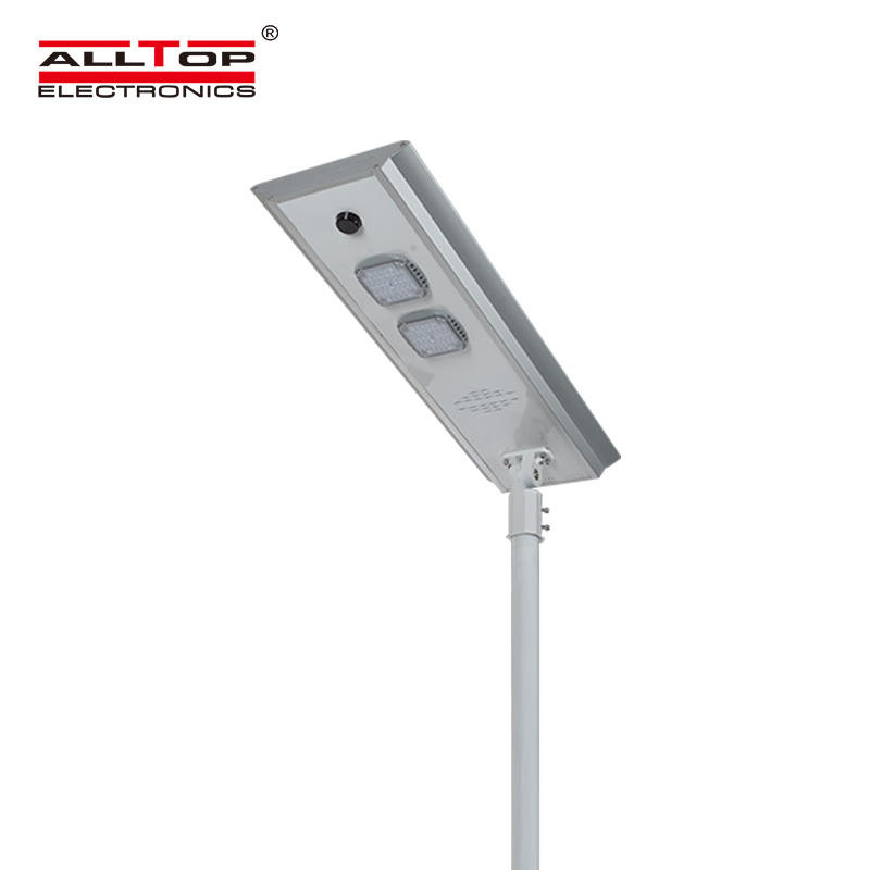 ALLTOP Hot selling waterproof outdoor lighting ip65 bridgelux smd integrated 50w 100w 150w all in one led solar street light