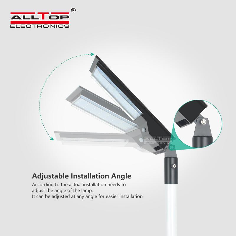 ALLTOP 2020 new design Pir Sensor IP65 Waterproof9w 14w All In One Integrated Solar Led Street Light