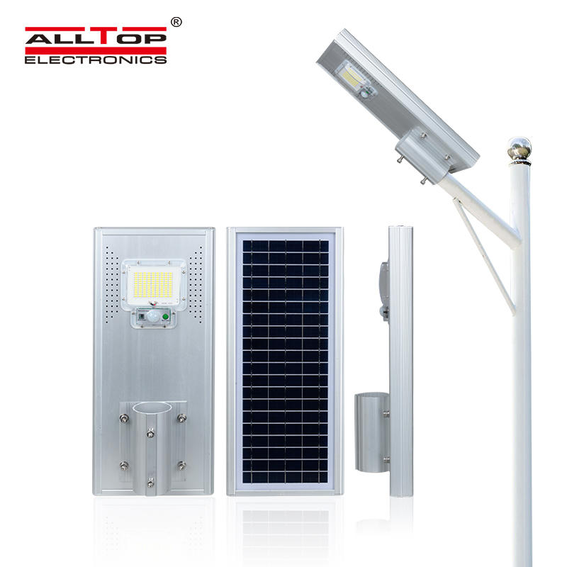 ALLTOP High power outdoor waterproof ip65 motion sensor 60w 120w 180w all in one solar led street lamp
