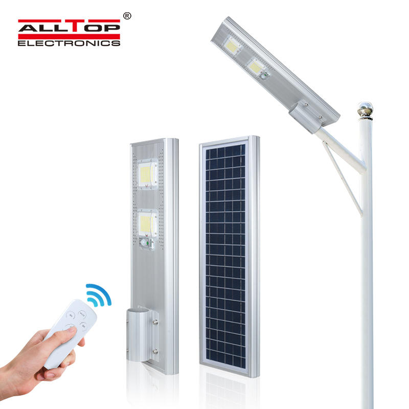 ALLTOP Wholesale price die cast aluminium customized photocell IP65 60w 120w 180w all in one solar led street light
