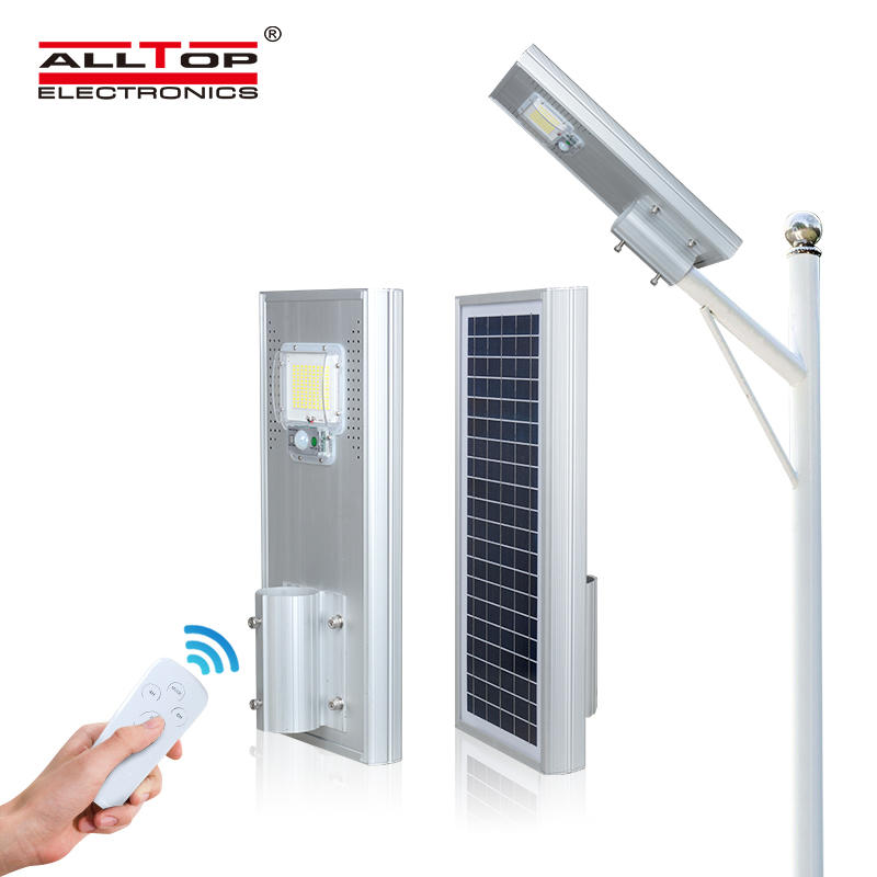 ALLTOP Factory supplier die cast aluminum housing ip65 all in one 60w 120w 180w solar led street light