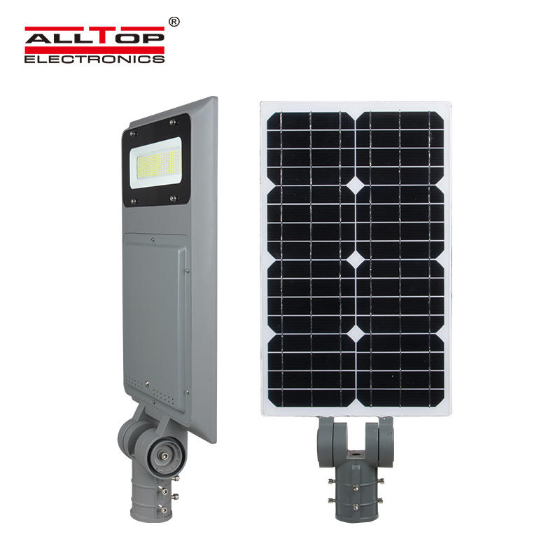 ALLTOP Ultra-high waterproof ip65 MPPT bracket adjustable 40w 60w 100w integrated all in one solar street lamp
