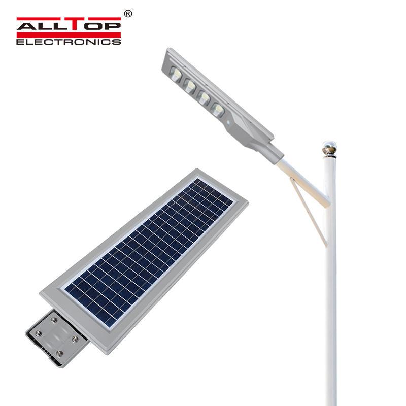 ALLTOP Factory price outdoor lighting IP65 solar panel 30watt 60watt 90watt 120watt 150watt all in one solar led street light