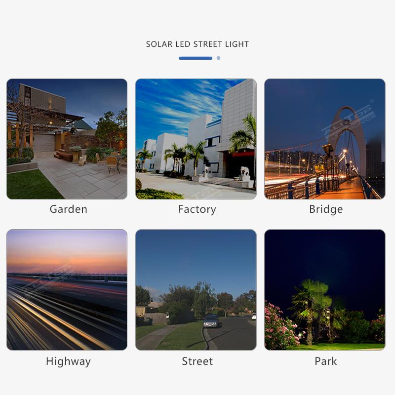 ALLTOP High lumen bridgelux smd outdoor waterproof lighting ip65 30watt 60watt 90watt all in one solar led streetlight