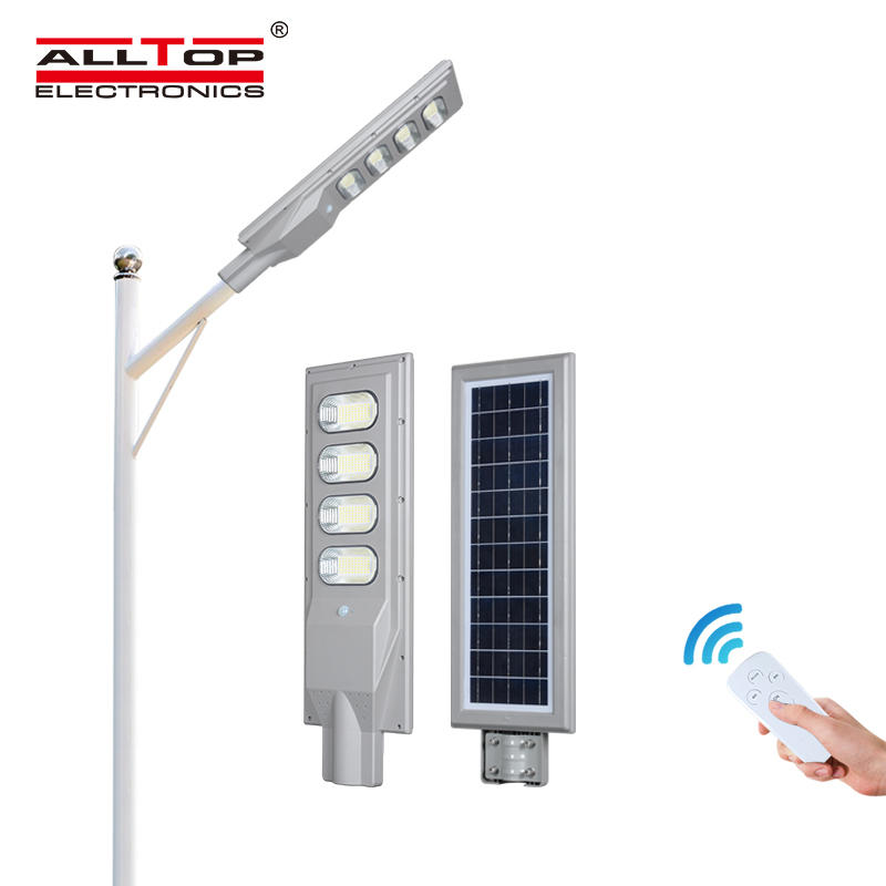 ALLTOP High power super bright outdoor ip65 build in battery 30w 60w 90w 120w 150w all in one led solar street light
