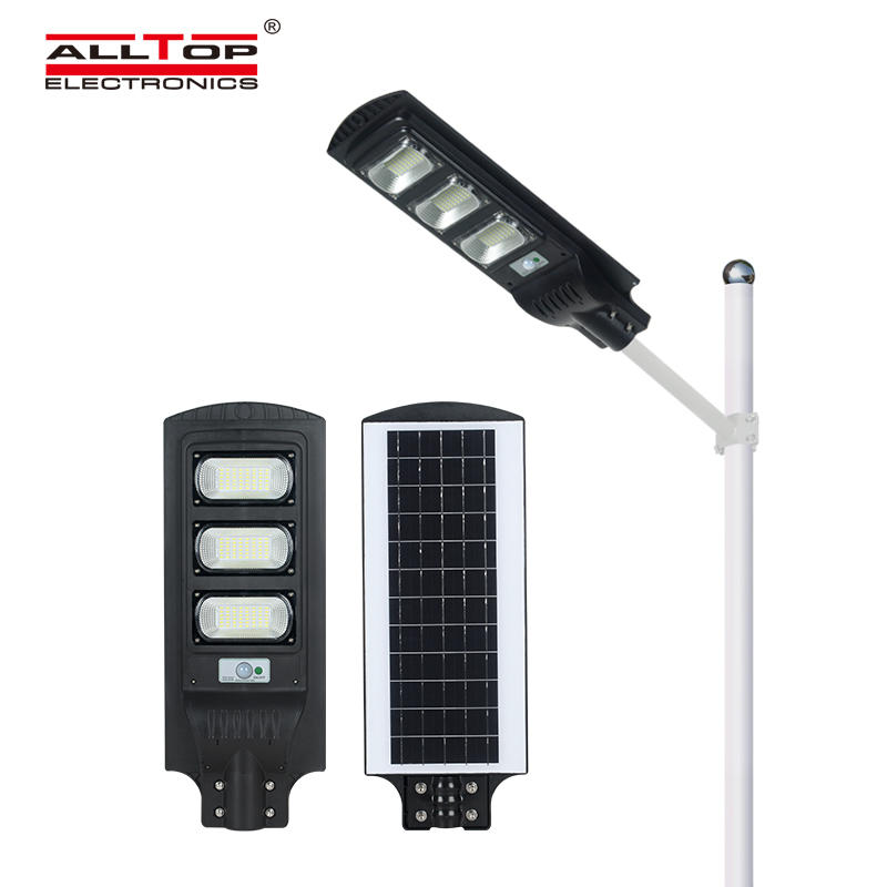 ALLTOP High Power ABS Housing ip65 outdoor waterproof lighting 30w 60w 90w integrated solar Led StreetLight
