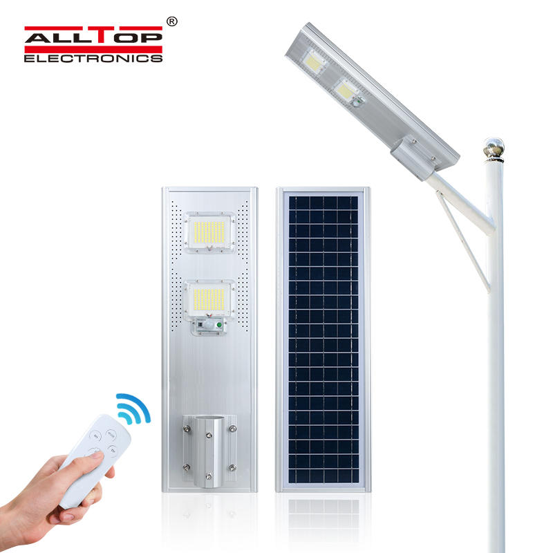 ALLTOP High quality brigelux smd waterproof 60w 80w 120w 180w integrated all in one solar led street light