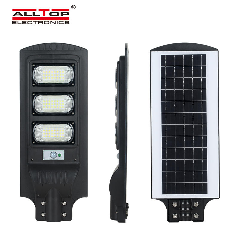 ALLTOP Hot Sale outdoor courtyard lighting waterproof IP65 30watt 60watt 90watt All In One Led Solar Street Light