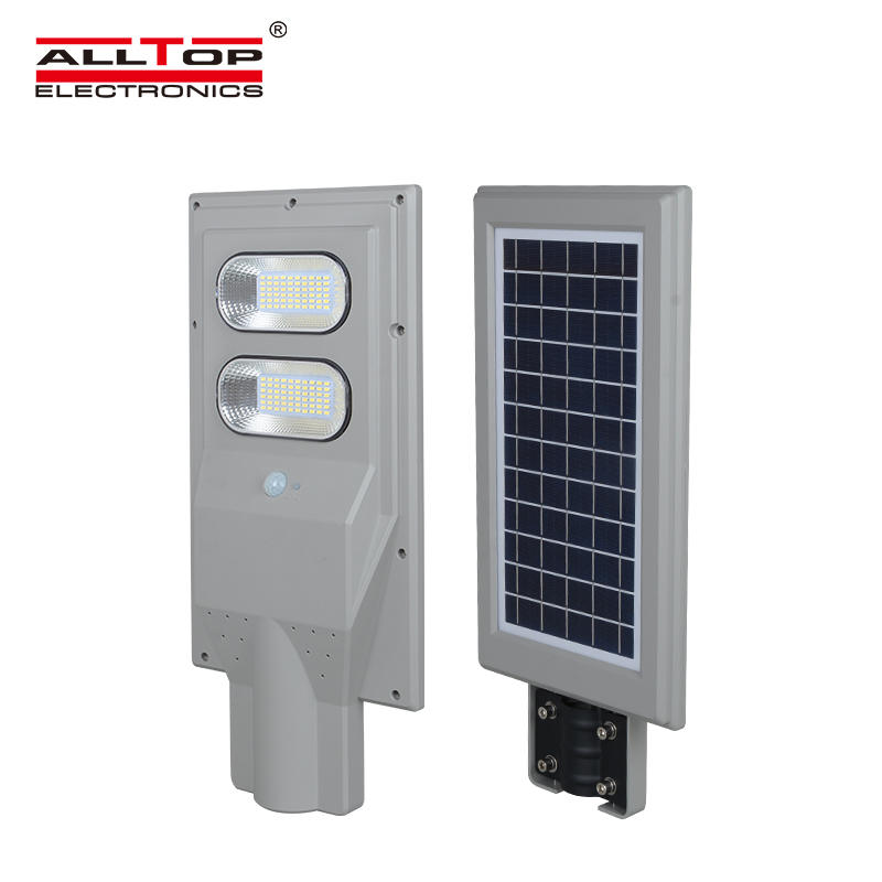 ALLTOP High power garden courtyard ip65 waterproof 30 60 90 120 150 watt all in one solar led street light