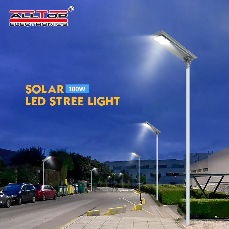 ALLTOP Energy saving waterproof ip65 outdoor lighting 100w integrated all in one led solar street light price