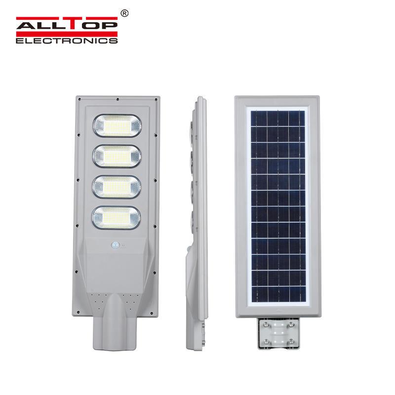 ALLTOP High efficiency waterproof ABS housing IP66 30w 60w 90w 120w 150w all in one solar led street lamp