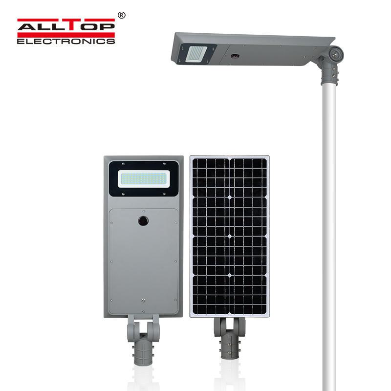 ALLTOP New product high lumen bridgelux IP66 waterproof outdoor 40w 60w 100w all in one solar led street light