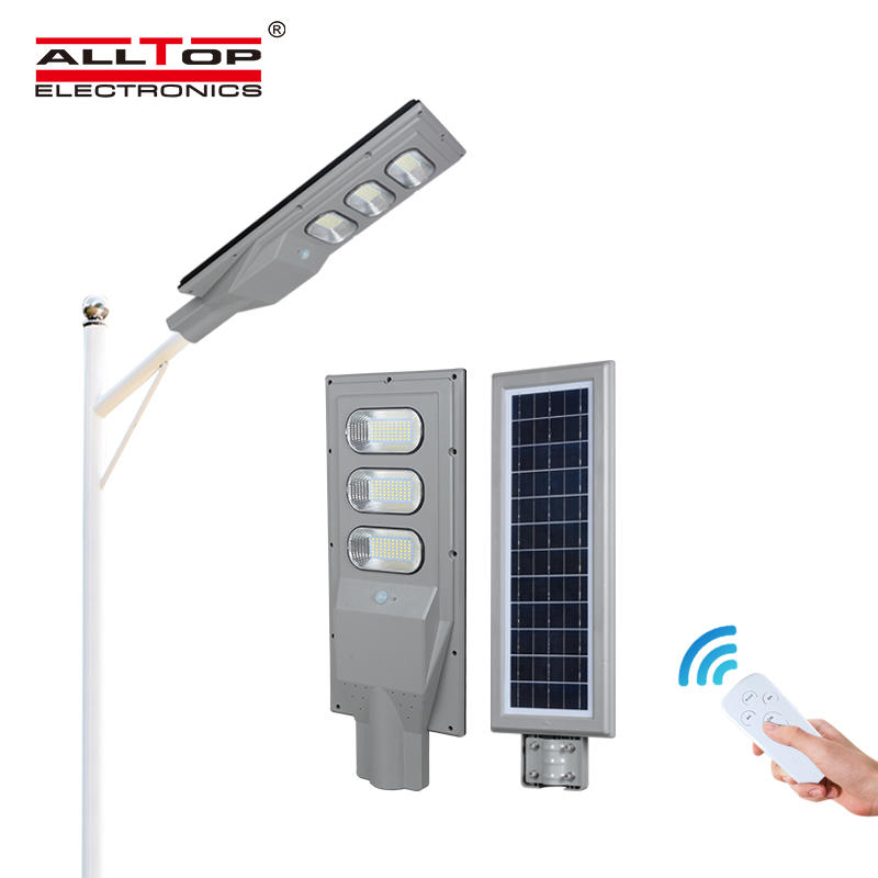 ALLTOP IP65 Outdoor waterproof 30w 60w 90w induction sensor solar panel led street lamp