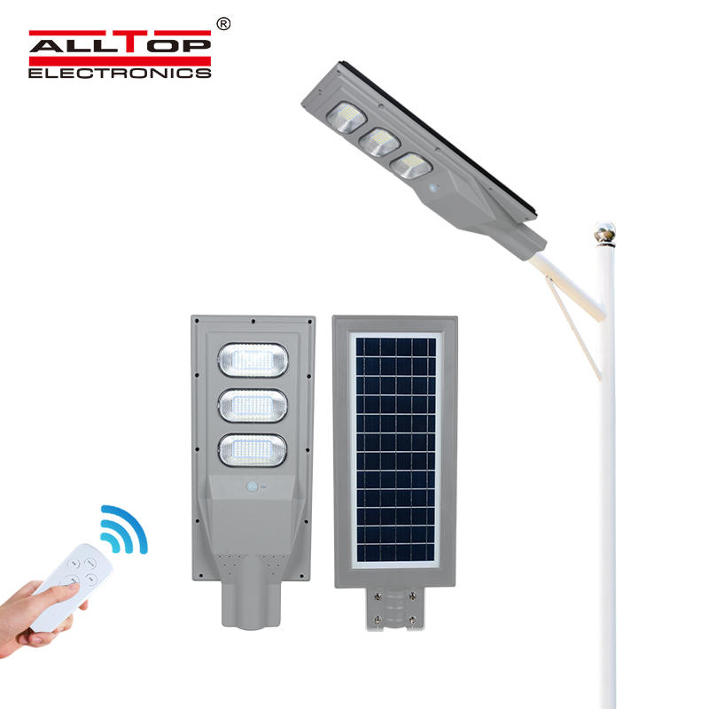 ALLTOP High quality ip65 waterproof outdoor panel battery 30 60 90 120 150 watt all in one solar led streetlight
