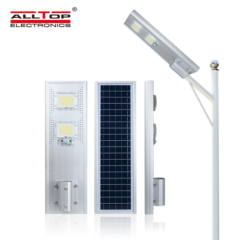 ALLTOP High quality aluminum die cast outdoor ip65 all in one 60 120 180 w led solar street light
