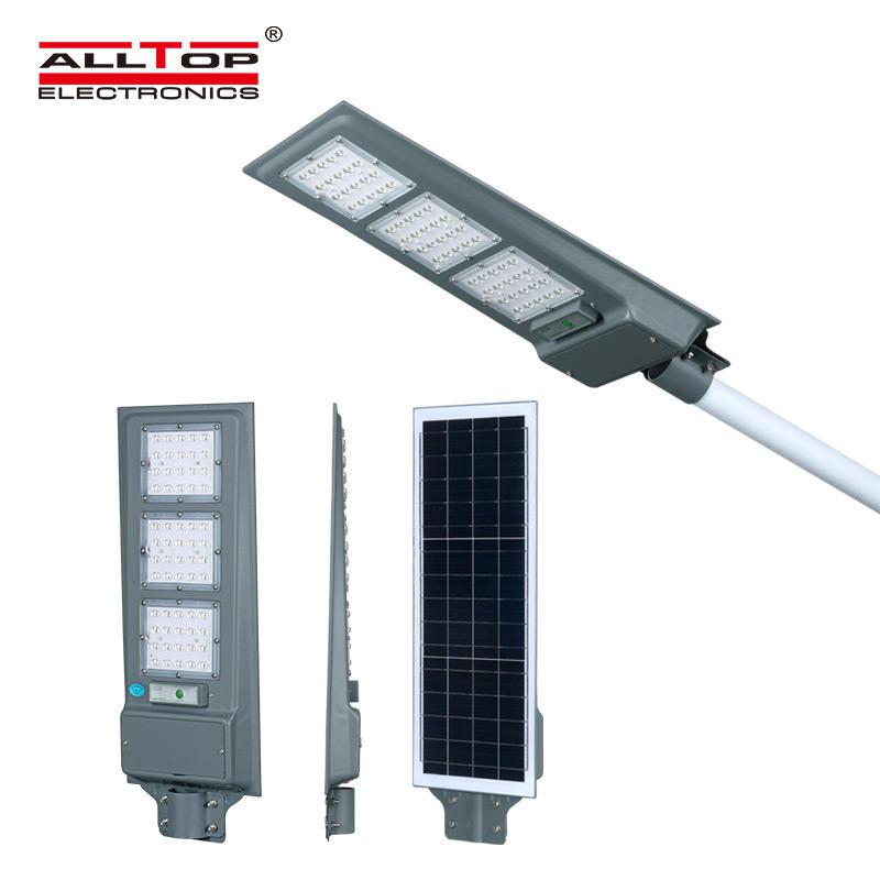 ALLTOP New product 20w 40w 60w IP65 outdoor integrated motion sensor all in one solar led street light price
