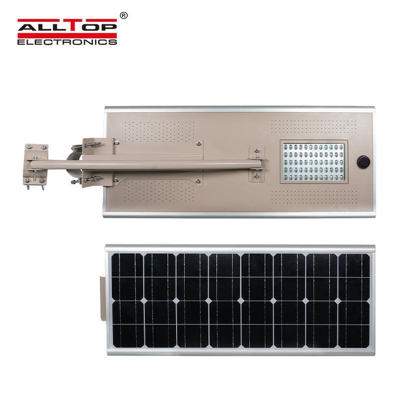 Outdoor all in one IP65 60 80 100 w integrated solor led street light with solar panel