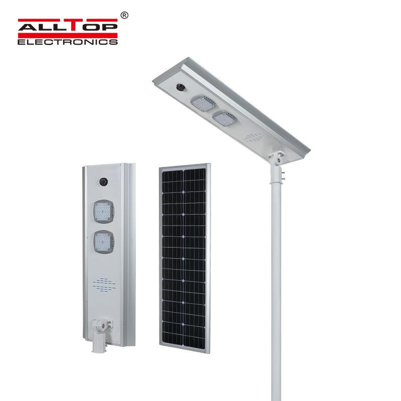 ALLTOP Hot selling waterproof outdoor lighting ip65 bridgelux smd integrated 50w 100w 150w all in one led solar street light