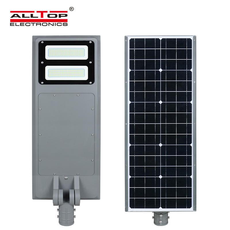 ALLTOP High quality low prices IP65 outdoor aluminium die cast housing 40 60 100 watt led solar street lights prices