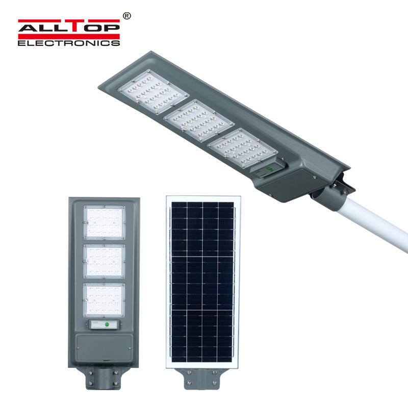 ALLTOP High brightness ip65 waterproof outdoor 20w 40w 60w street lamp integrated all in one solar led light