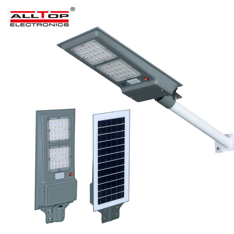 ALLTOP High brightness IP65 outdoor waterproof bridgelux smd 20 40 60 watt integrated all in one solar led streetlight
