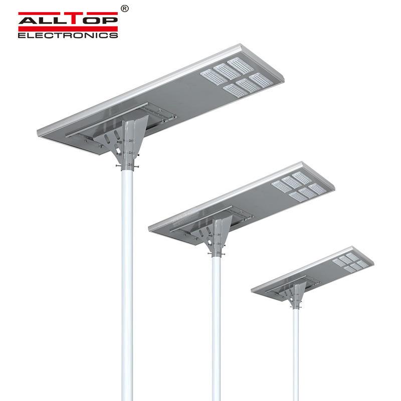 ALLTOP Modern design all in one integrated aluminium smd 200watt solar power street light with pole