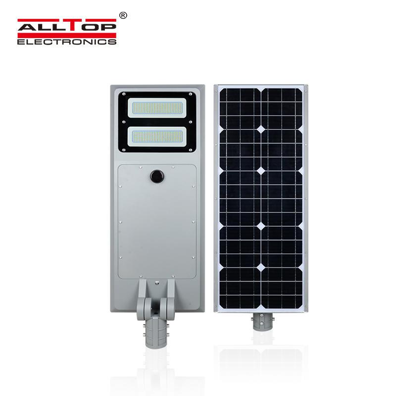 ALLTOP High lumen Outdoor ip65 bridgelux 60watt 100watt all in one solar led streetlight