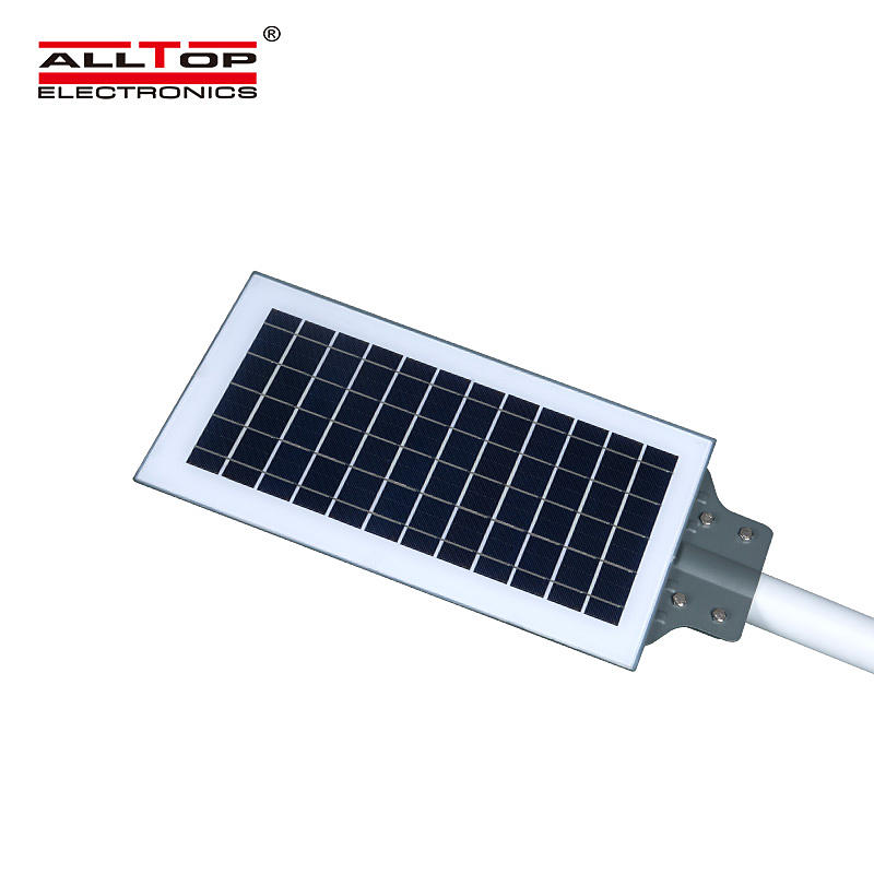 ALLTOP New product IP65 waterproof outdoor solar powered 20w 40w 60w all in one led road light