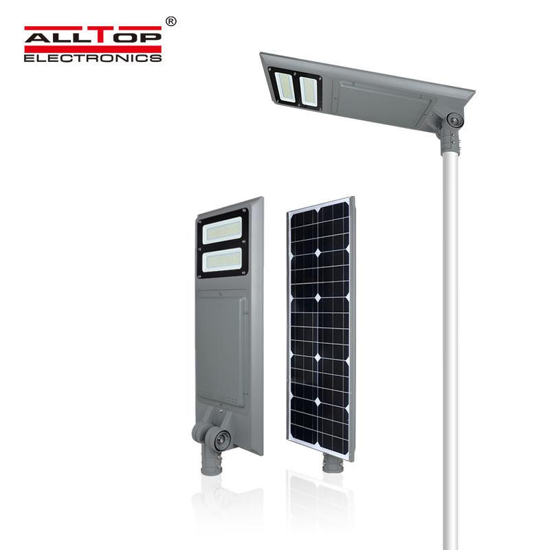 ALLTOP High power IP65 waterproof bridgelux 40 60 100 w integrated all in one solar led street light