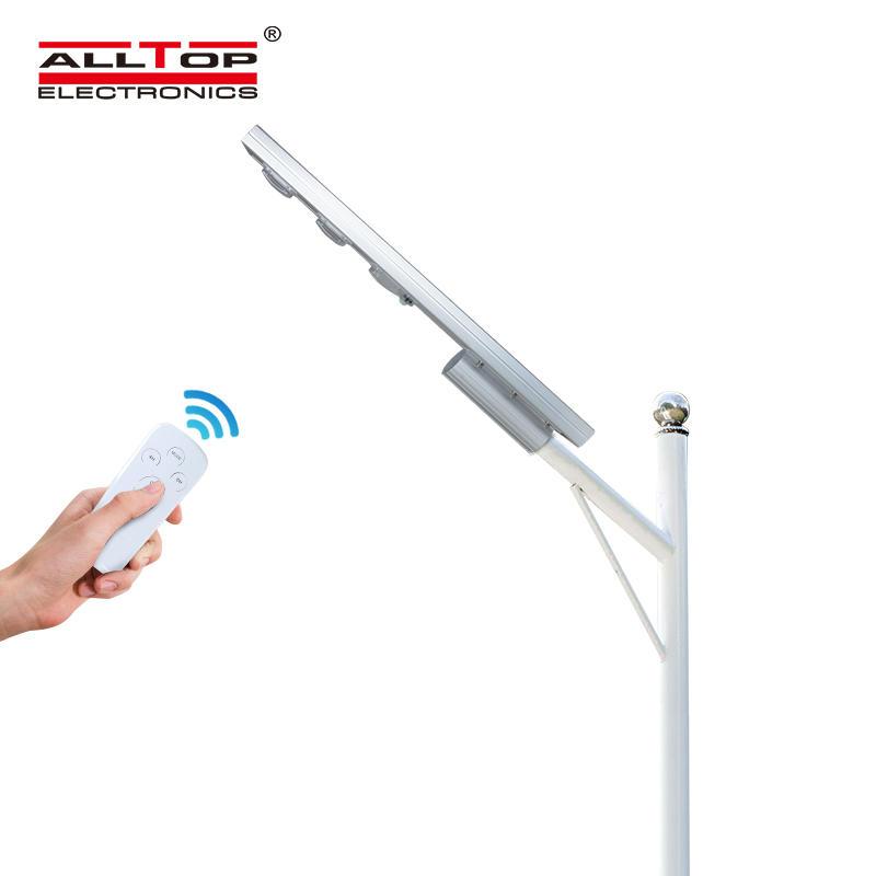 ALLTOP Outdoor IP65 solar battery motion 60w 120w 180w all in one led solar street lamp