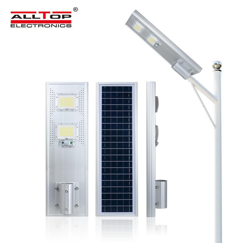 ALLTOP Hot Sale outdoor courtyard waterproof IP65 60 120 180 watt All In One Led Solar Street Light Price