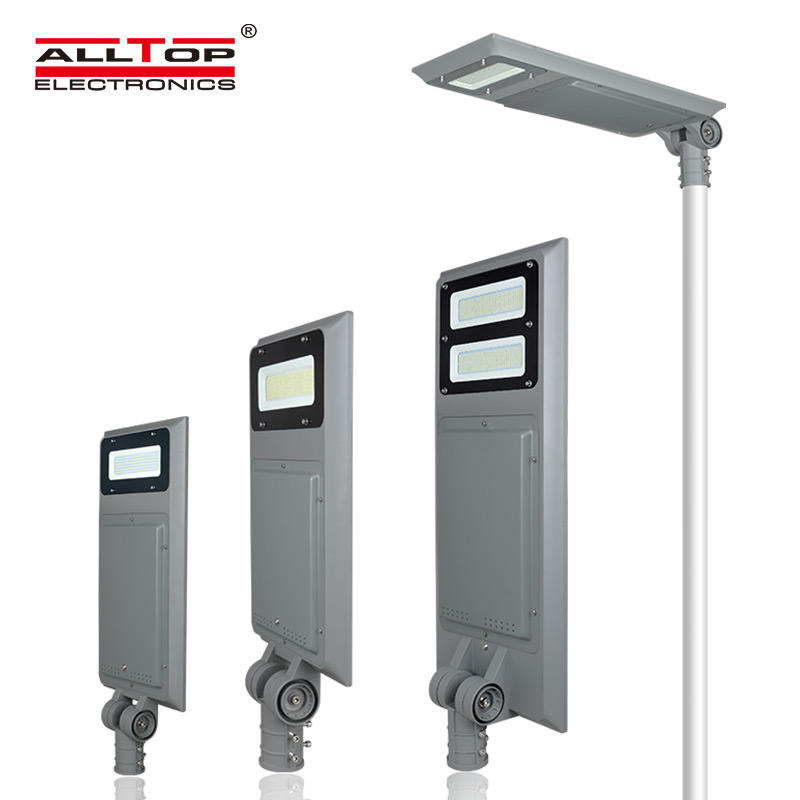 ALLTOP High quality outdoor IP65 waterproof smd 40 60 100 w integrated all in one led solar streetlight price
