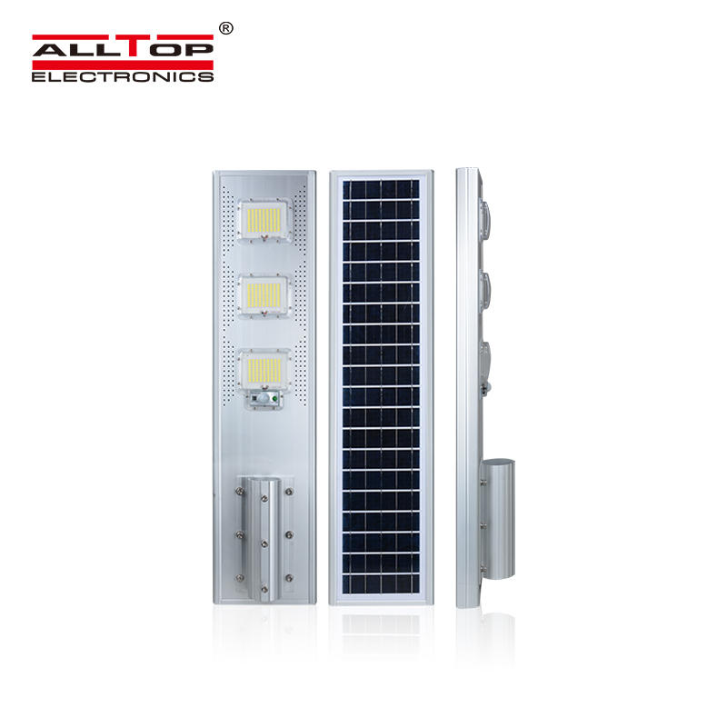 ALLTOP High power die cast aluminum housing ip66 60 120 180 watt all in one led solar street light