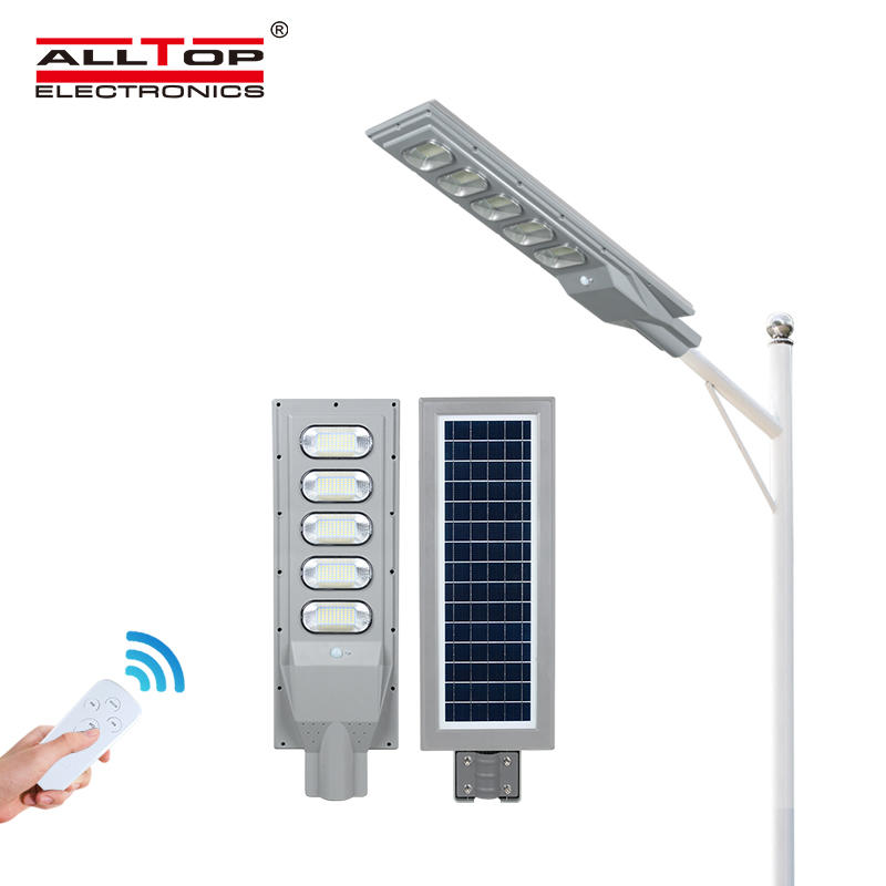 ALLTOP ABS outdoor 30w 60w 90w 120w 150w ip65 waterproof solar powered all in one led solar street light