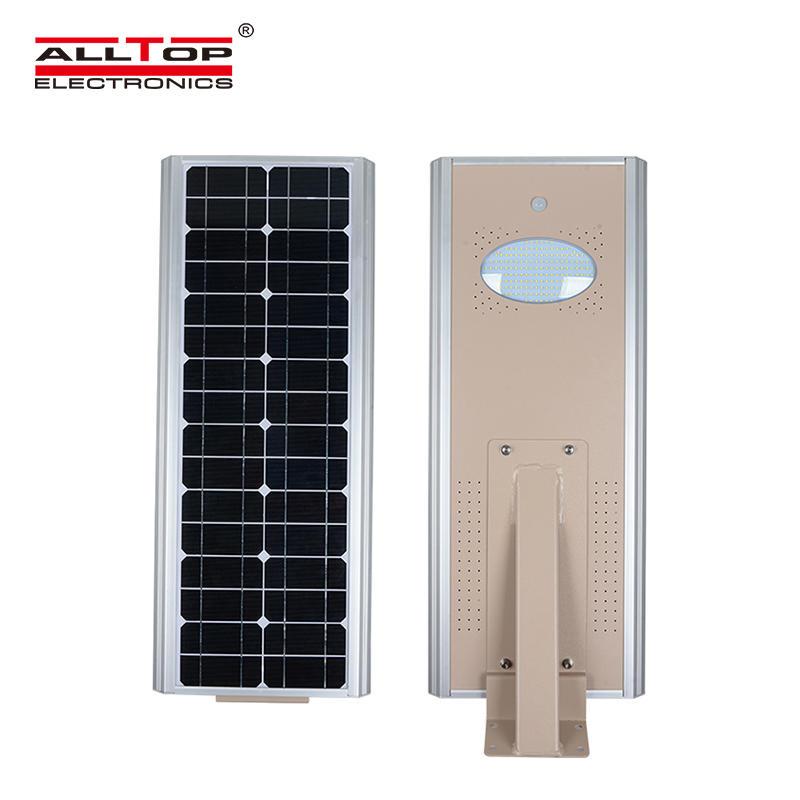 ALLTOP High efficiency all in one solar panel motion sensor 8w 15w 25w integrated led solar street light