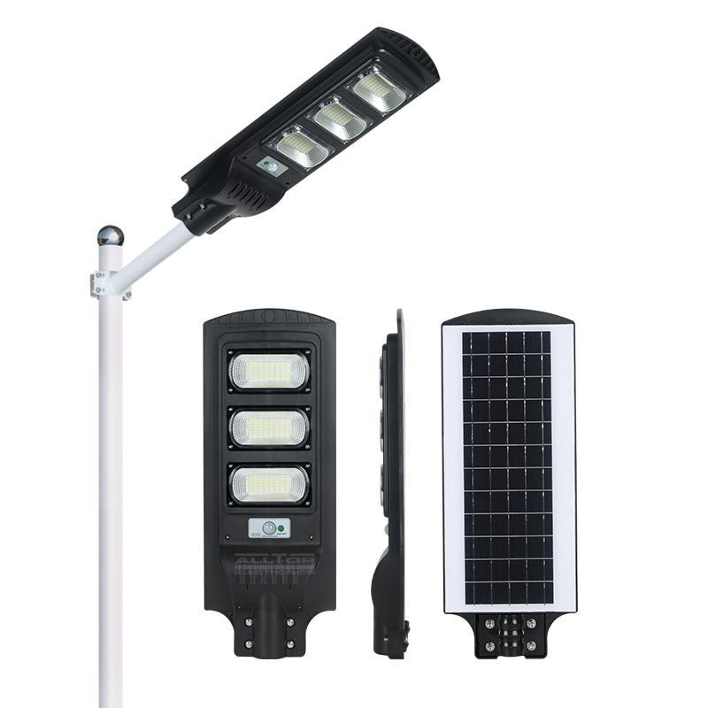 ALLTOP High lumen outdoor lighting ip65 PIR sensor 30w 60w 90w intergrated all in one led solar street light